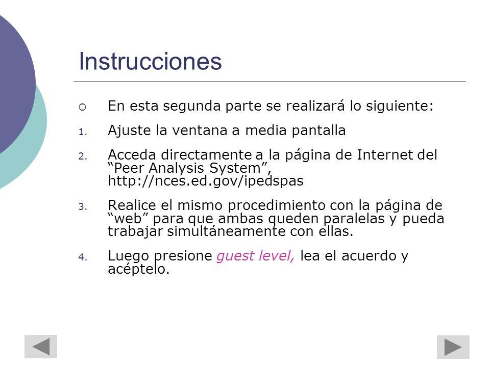 Instrucciones En esta segunda parte se realizará lo siguiente: 1.