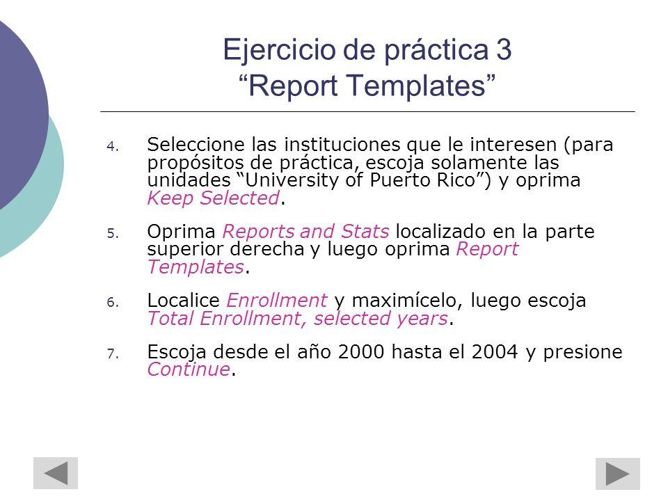 Ejercicio de práctica 3 Report Templates 4.