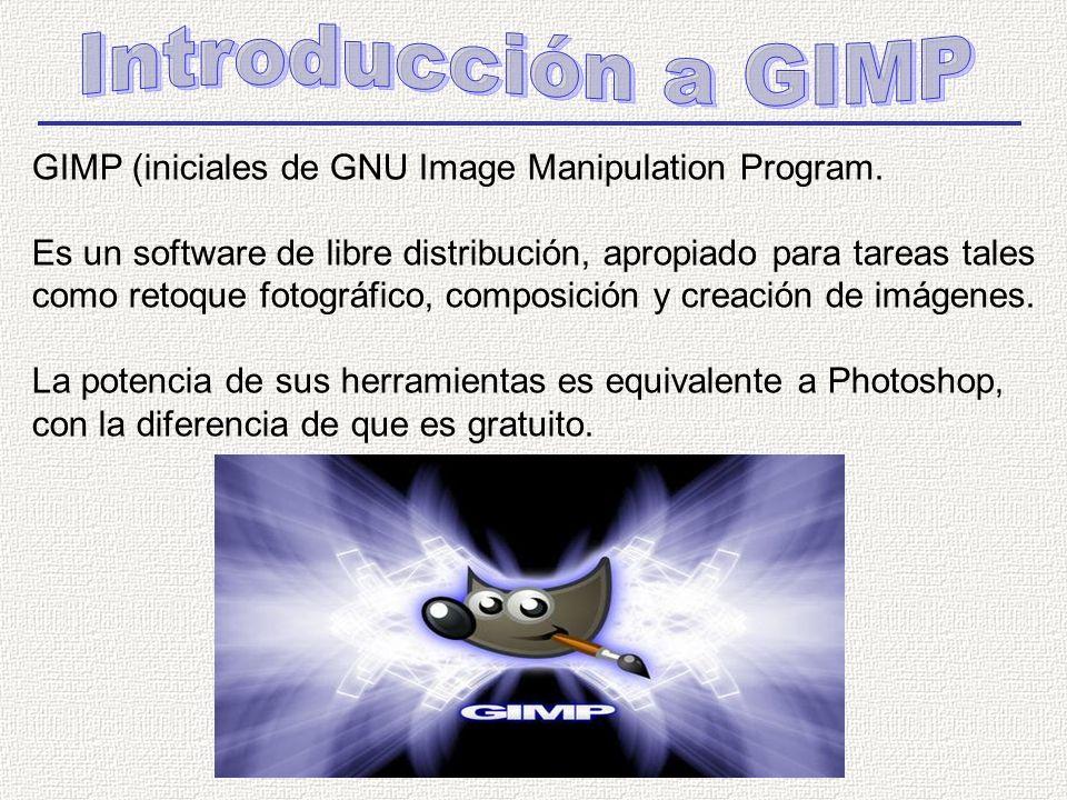 GIMP (iniciales de GNU Image Manipulation Program.