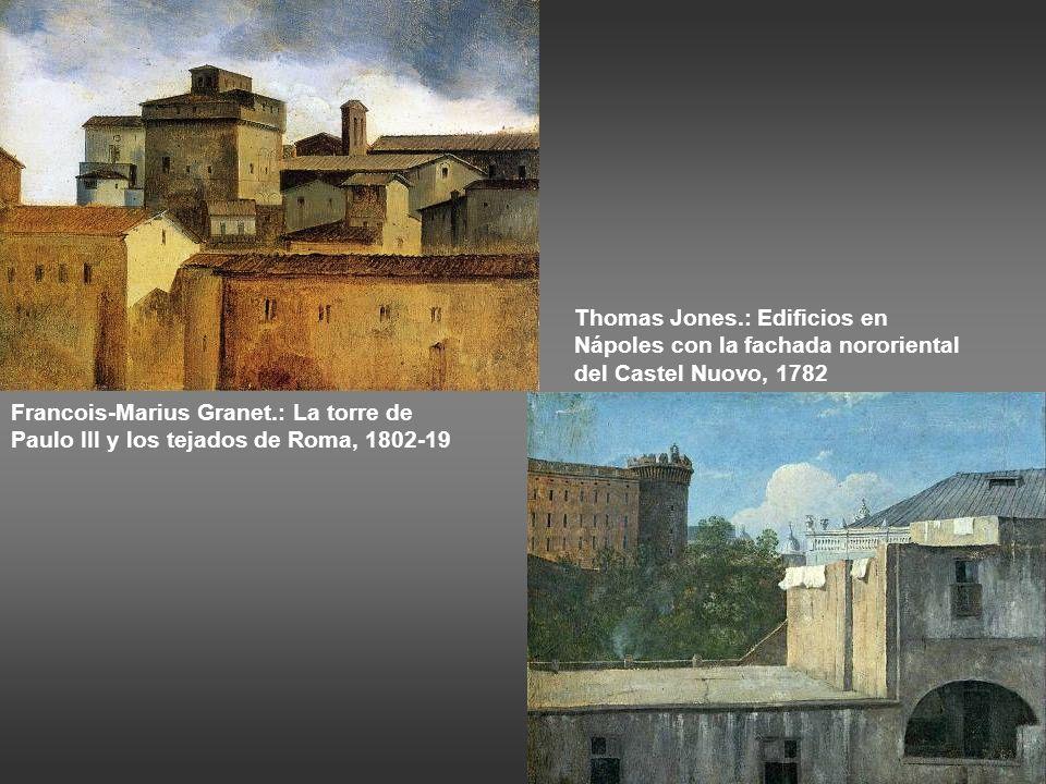 Pierre-Henri de Valenciennes: Loggia en Roma, tejado al sol, 1782-84 Pierre-Henri de Valenciennes: Loggia en Roma, tejado en sombra, 1782-84 Os felici