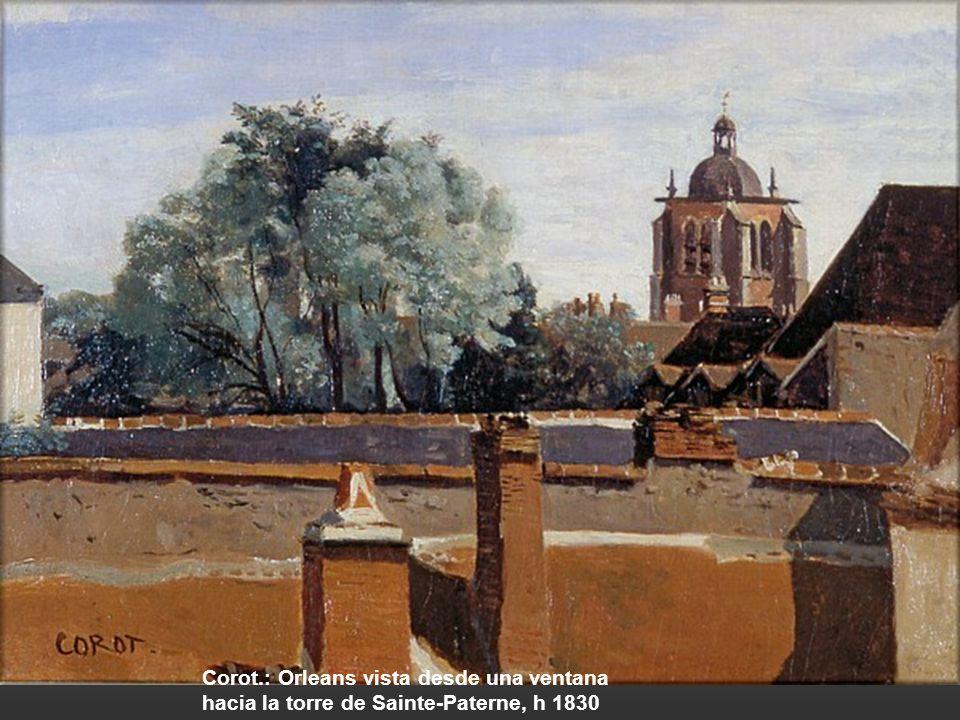 Francois-Marius Granet.: La torre de Paulo III y los tejados de Roma, 1802-19 Thomas Jones.: Edificios en Nápoles con la fachada nororiental del Caste