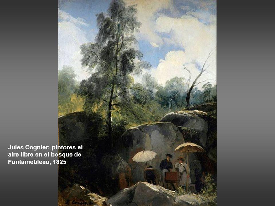 Corot: bosque rocoso cerca de Civitá Castellana, 1826-27 Corot: campesina en el bosque de Fontainebleau.
