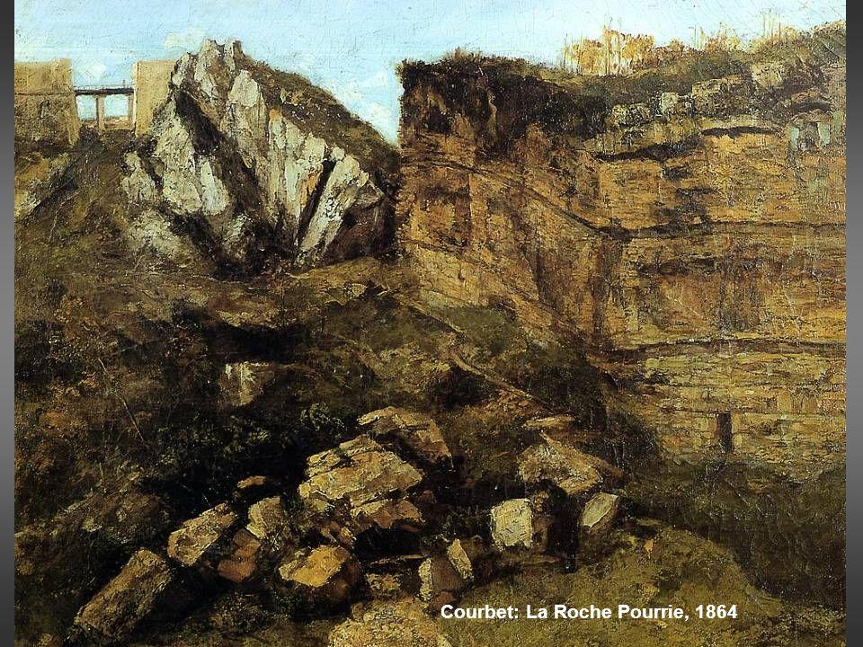 Theodore Caruelle d´Aligny: Bosque de Fontainebleau, h 1845 Theodore Rousseau: estudio de rocas y árboles, 1829