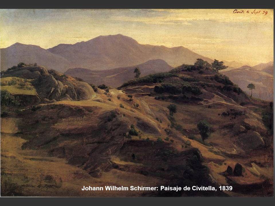 Achille-Etna Michallon: Erupción del Vesubio, noche, 1819 Jean-Charles-Joseph Rémond: Barranco con lengua de lava dirigiéndose al mar, h 1821-25