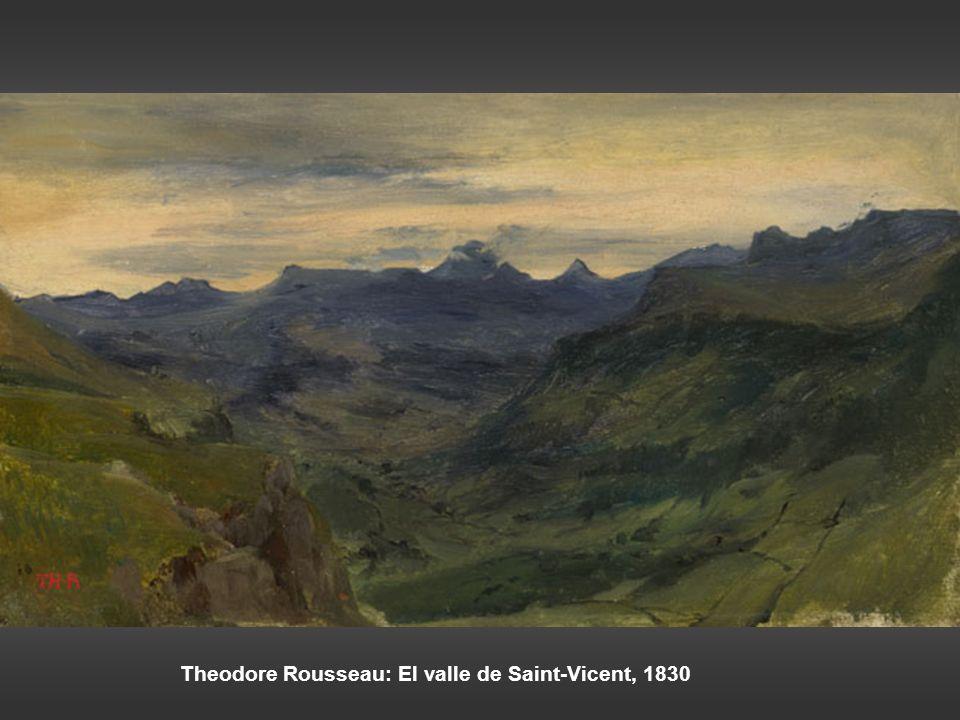 Ferdinad Georg Waldmüller: El Schönberg visto desde Hoisernradalpe, 1833 Carl Gustav Carus: Rocas, 1821