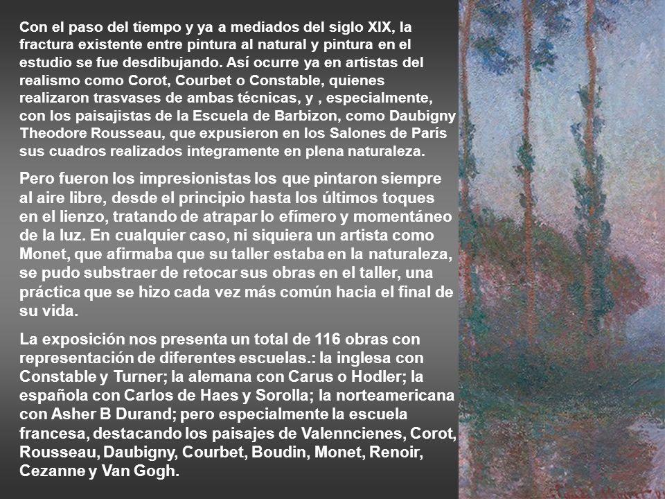 Cezanne: Peñascos en el bosque, h 1893 Cezanne: rocas y ramas en Bibémus, h 1895-1904