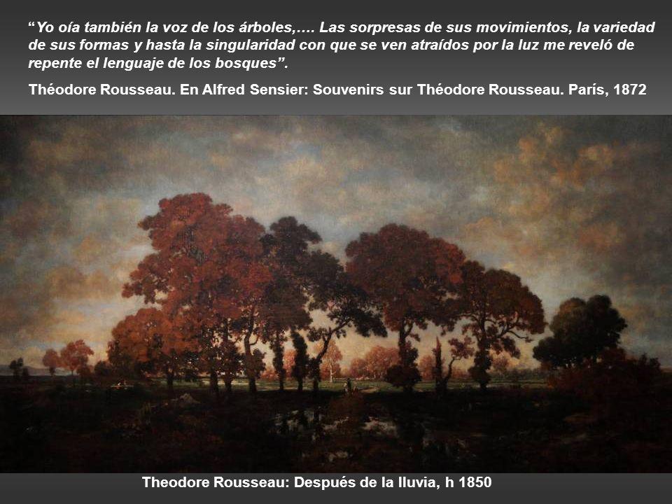 Asher B Durand: Estudio de la naturaleza, abedul, h 1860 Asher B Durand: paisaje, h 1855