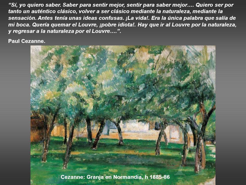 Monet: Vista de Bennecourt, 1887 Monet: Álamos a orillas del río Epte, atardecer, 1891