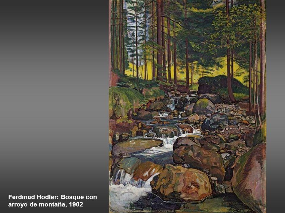 Courbet: el nacimiento del río Loue, 1864 Courbet: el arroyo de Breme, 1866