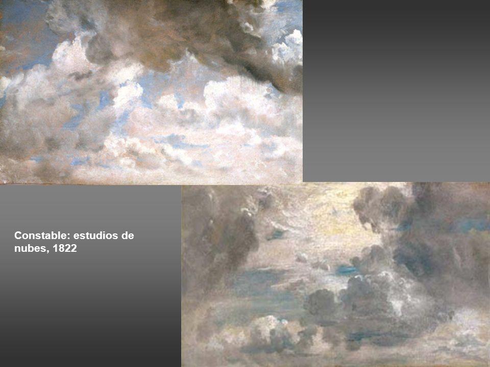 Francois-Marius Granet: Monte Mario, Roma, 1810-20 Pierre-Henri de Valenciennes: estudio de cielo cargado de nubes, Roma, 1782-84