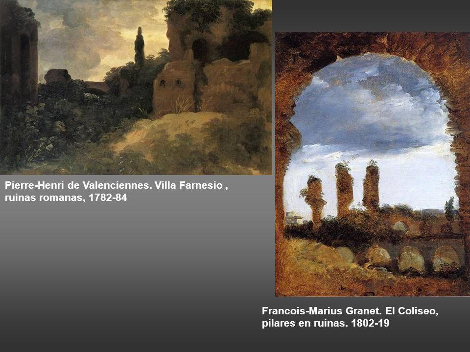 Pierre-Henri de Valenciennes.Villa Farnesio, ruinas romanas, 1782-84 Francois-Marius Granet.