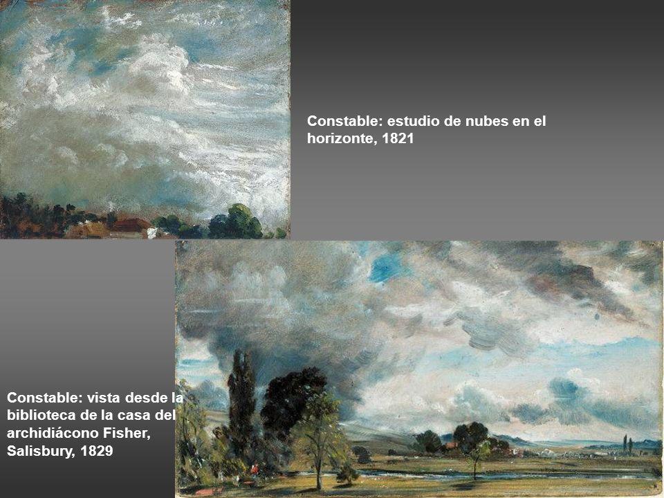 Constable: estudios de nubes, 1822