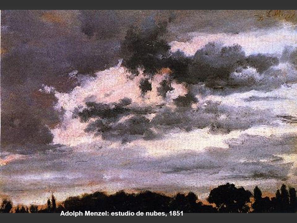 Constable: estudio de nubes en el horizonte, 1821 Constable: vista desde la biblioteca de la casa del archidiácono Fisher, Salisbury, 1829
