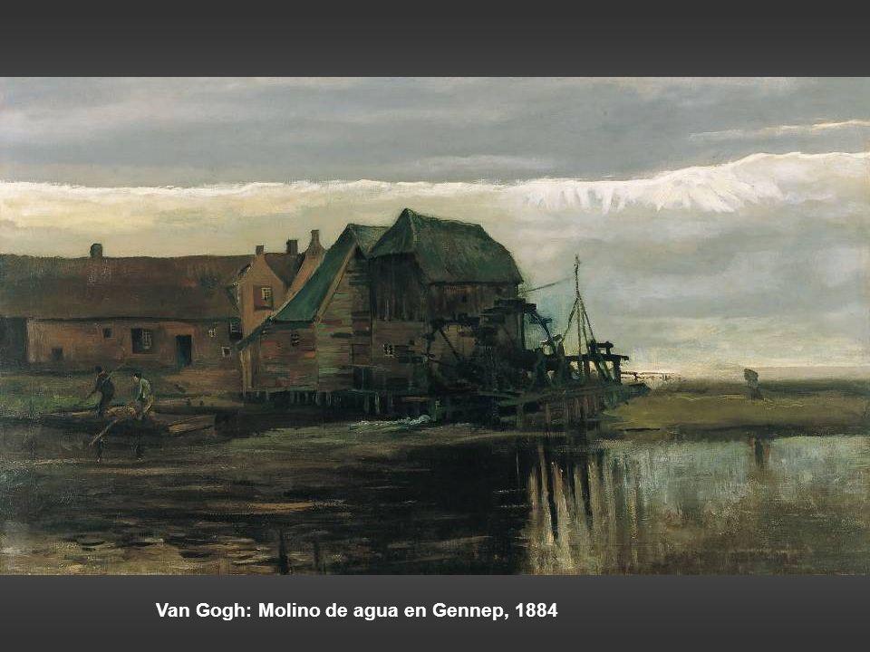 Georges Michel: paisaje con molino. Anton Mauve: cruzando el brezal, h 1885-88