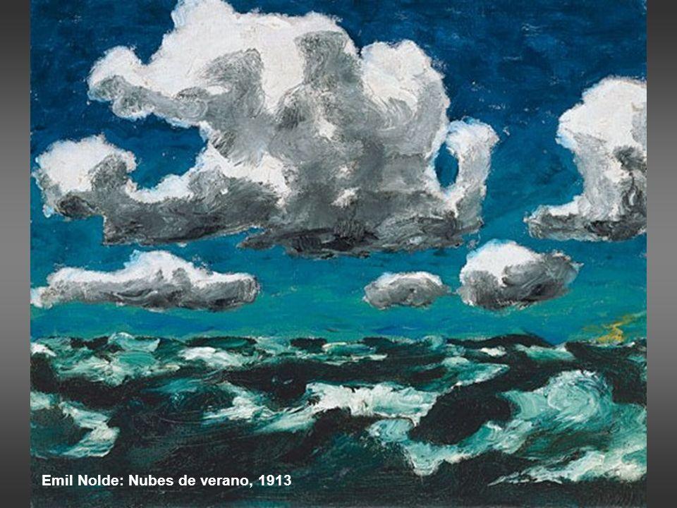 Van Gogh: Paisaje bajo un cielo agitado, 1889