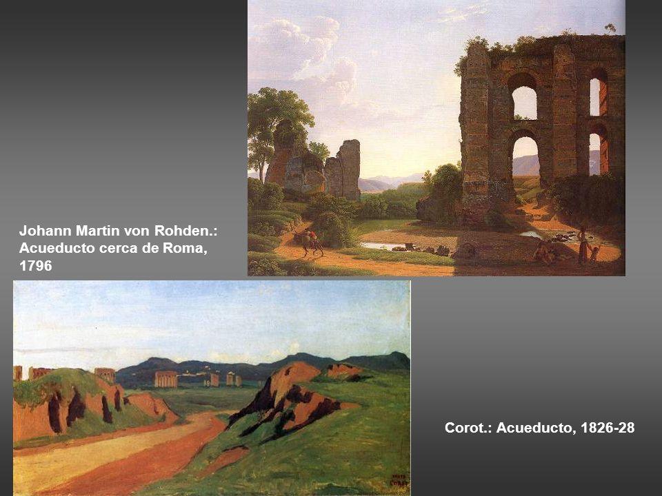 Christoffer Wilhelm Eckersberg. El Coliseo, interior, 1813-16. …. Las ruinas necesarias en un tema deben pintarse con la misma veracidad que un retrat