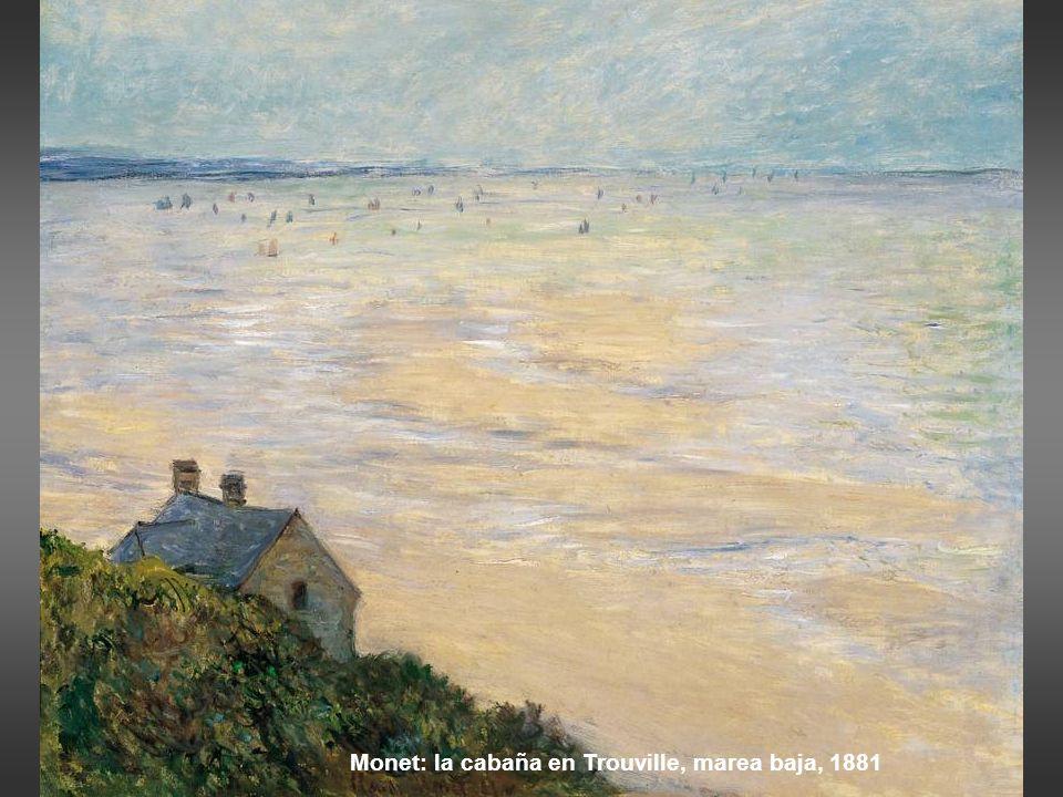 Monet: Marea baja en Varengeville, 1882