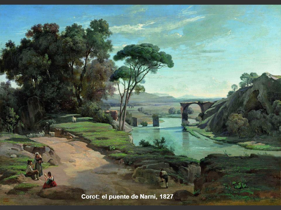 Corot.: Acueducto, 1826-28 Johann Martin von Rohden.: Acueducto cerca de Roma, 1796