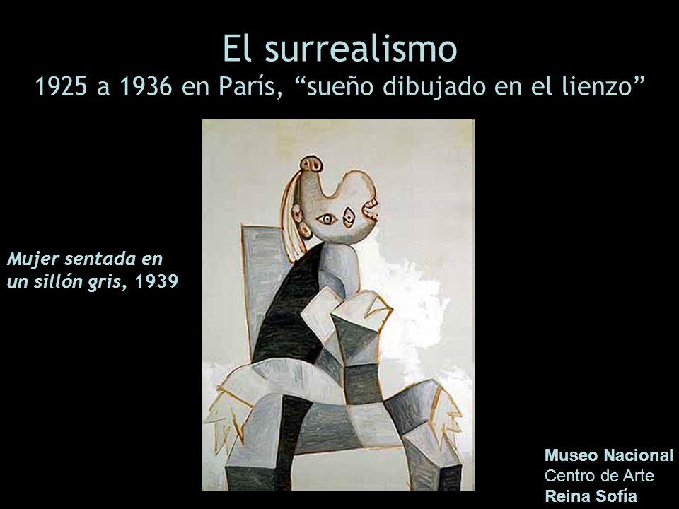 El surrealismo 1925 a 1936 en París, sueño dibujado en el lienzo Museo Nacional Centro de Arte Reina Sofía Mujer sentada en un sillón gris, 1939