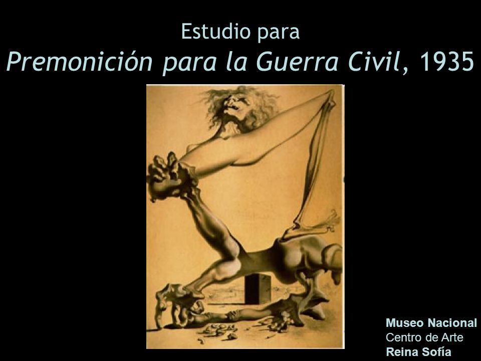 Estudio para Premonición para la Guerra Civil, 1935 Museo Nacional Centro de Arte Reina Sofía
