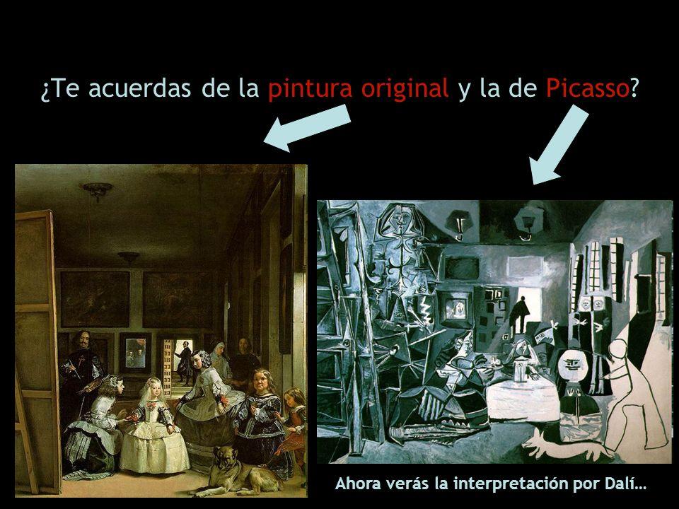 ¿Te acuerdas de la pintura original y la de Picasso? Ahora verás la interpretación por Dalí…