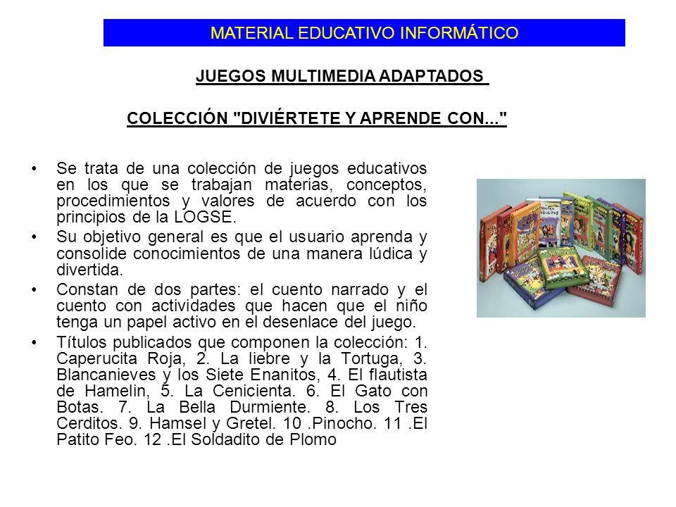 Se trata de una colección de juegos educativos en los que se trabajan materias, conceptos, procedimientos y valores de acuerdo con los principios de l
