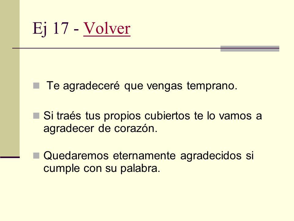 Ej 16 - VolverVolver En algunas culturas no se considera pertinente agradecer a los empleados que desempeñan tareas en lugares públicos.