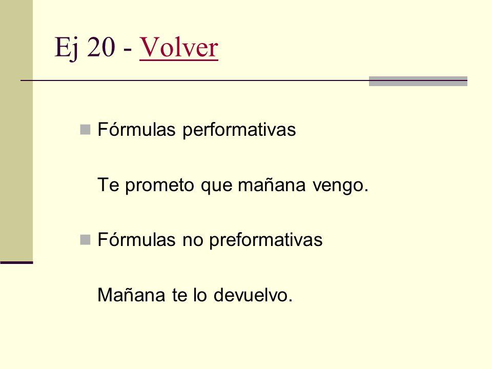 Ej 19 - VolverVolver Condiciones previas o preparatorias. Habilidad aserciones (poder = capacidad)Puedo ir por vos, si te parece. preguntas (poder = a