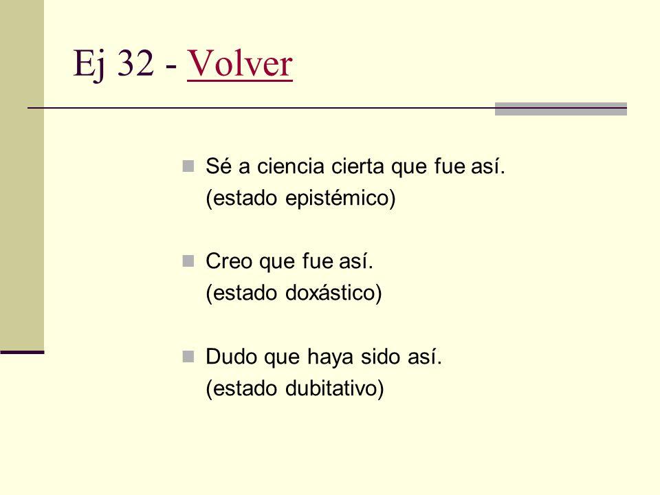 Ej 31 - VolverVolver Tengo que decir que estás equivocado. Quiero decir que ese fue un comentario desatinado. Puedo manifestar que no fue su responsab