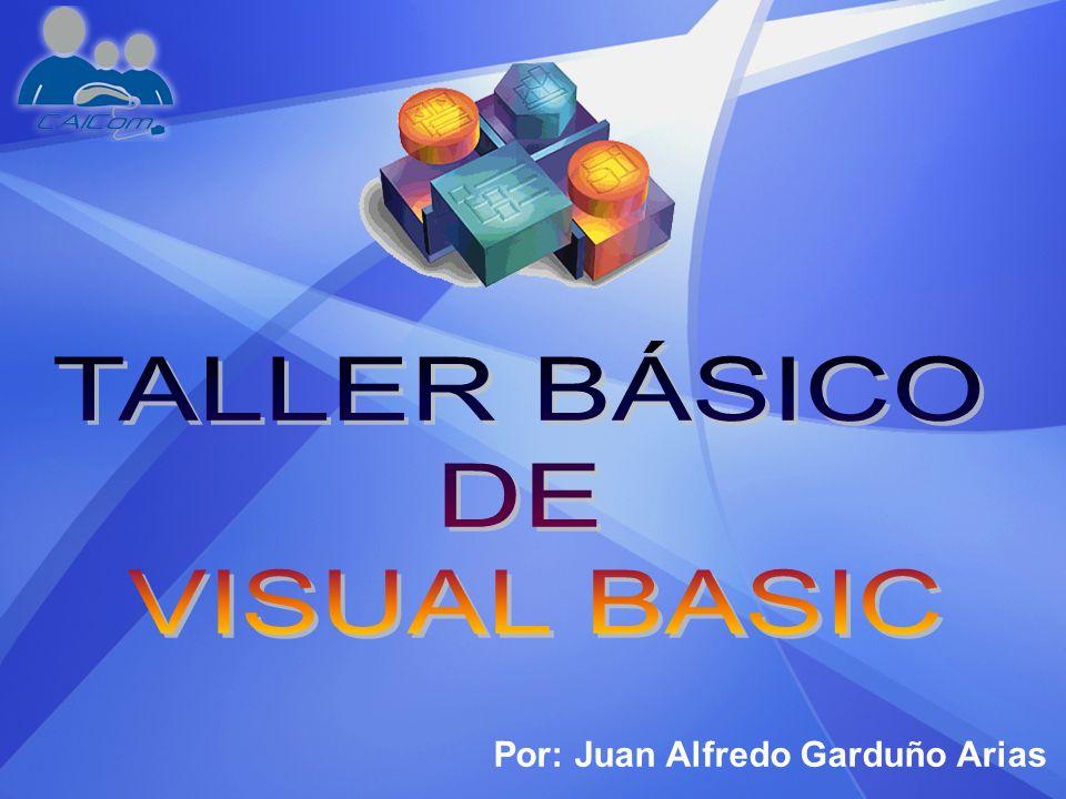 1.Introducción 2.Lenguaje Visual Basic 3.Eventos, Propiedades y Menús