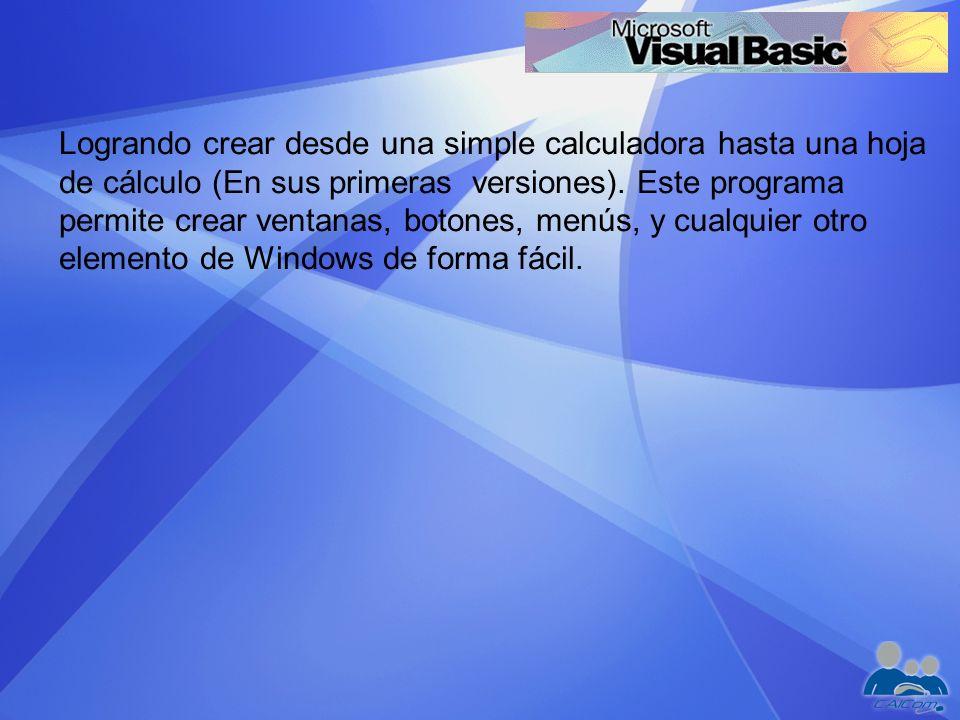 En Visual Basic existen cuatro barras de herramientas: Depuración.