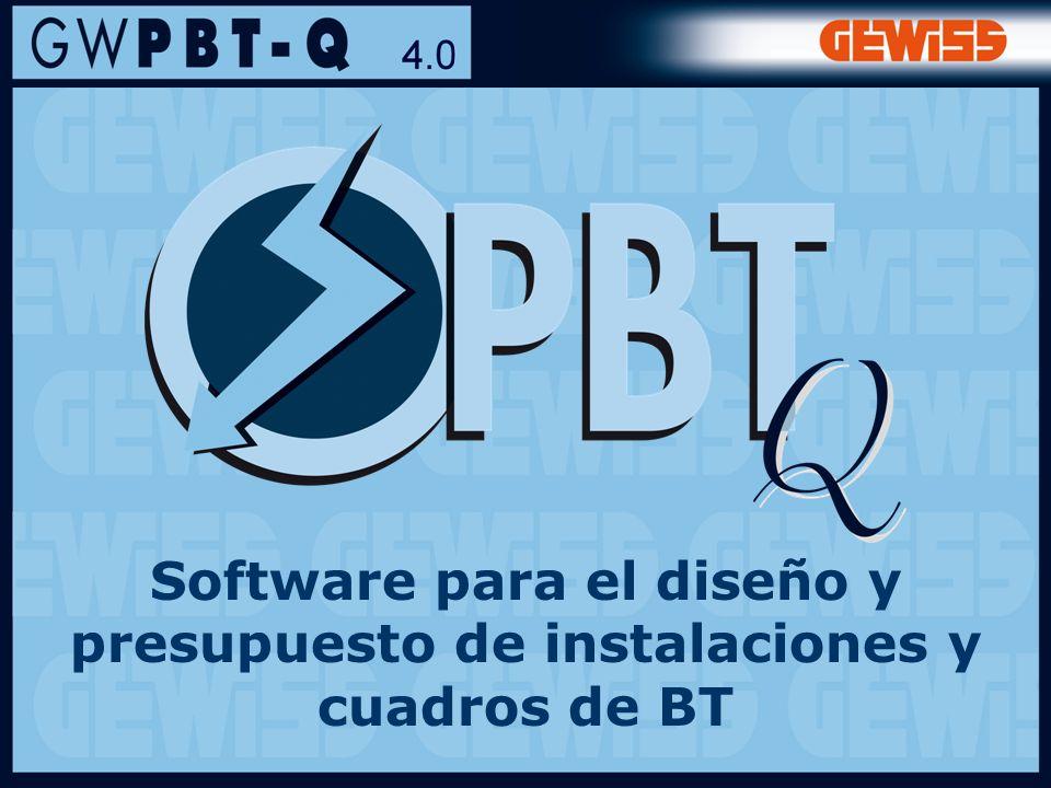 11 Software para el diseño y presupuesto de instalaciones y cuadros de BT