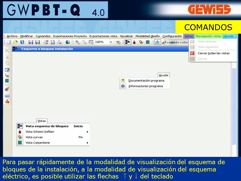13 Para pasar rápidamente de la modalidad de visualización del esquema de bloques de la instalación, a la modalidad de visualización del esquema eléct