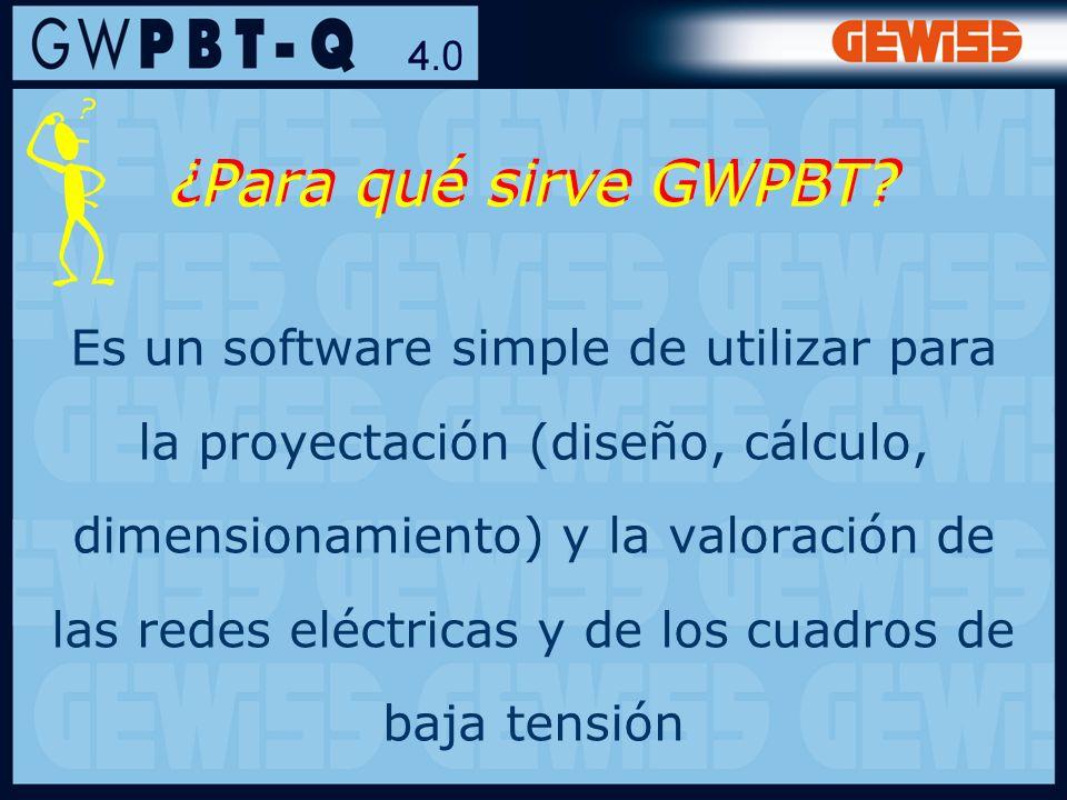 22 ¿Para qué sirve GWPBT? Es un software simple de utilizar para la proyectación (diseño, cálculo, dimensionamiento) y la valoración de las redes eléc