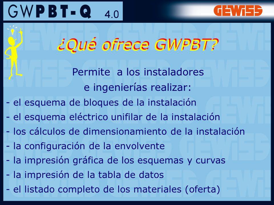 33 Permite a los instaladores e ingenierías realizar: - el esquema de bloques de la instalación - el esquema eléctrico unifilar de la instalación - lo