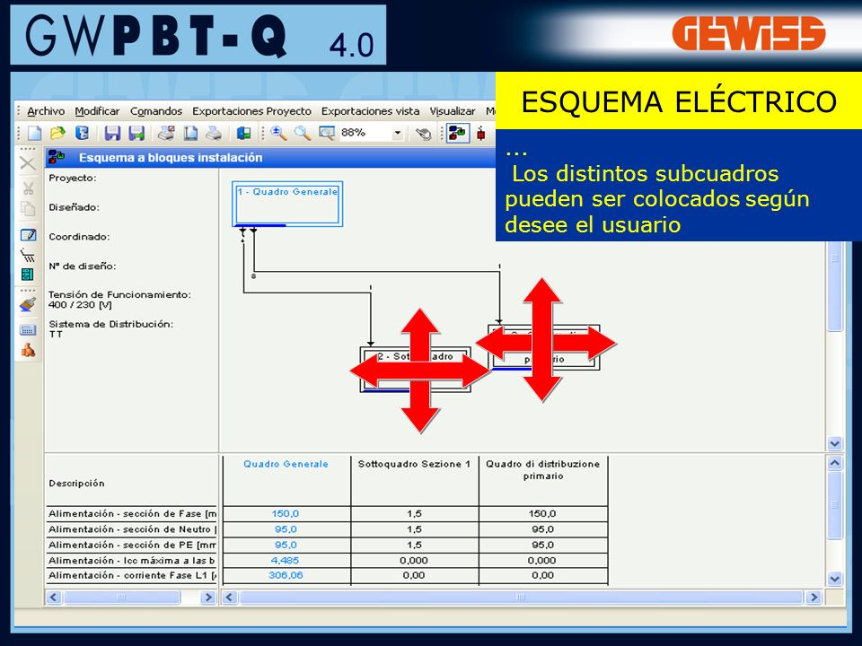68... Los distintos subcuadros pueden ser colocados según desee el usuario ESQUEMA ELÉCTRICO