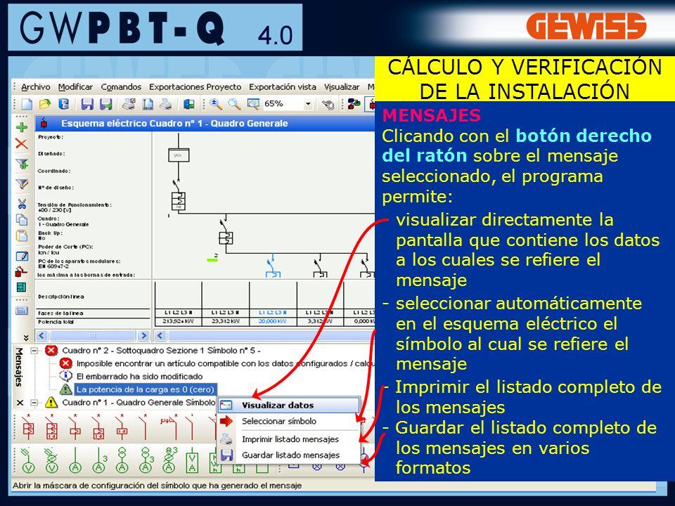 80 MENSAJES Clicando con el botón derecho del ratón sobre el mensaje seleccionado, el programa permite: -visualizar directamente la pantalla que conti