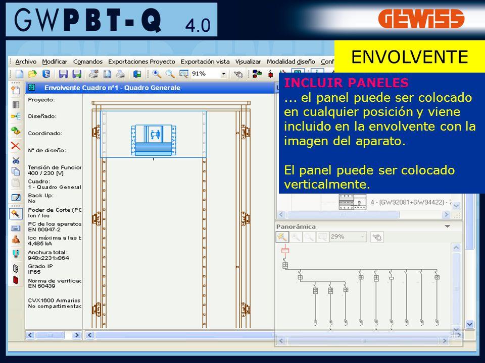 87 INCLUIR PANELES... el panel puede ser colocado en cualquier posición y viene incluido en la envolvente con la imagen del aparato. El panel puede se