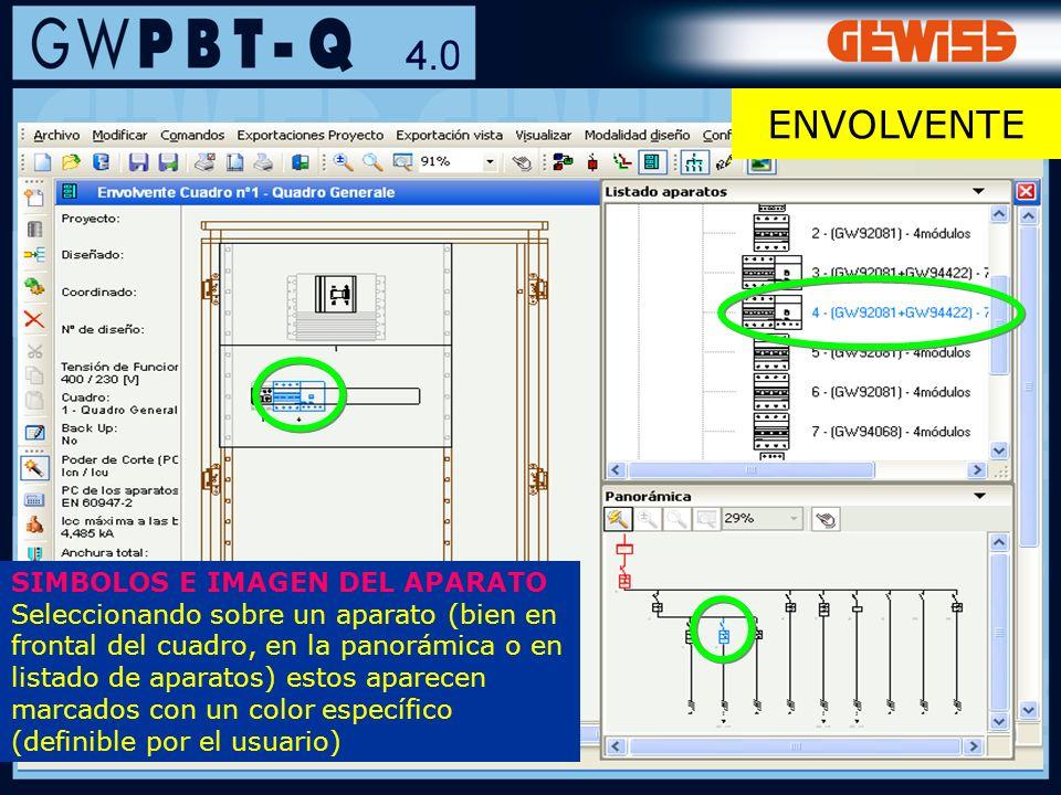 89 SIMBOLOS E IMAGEN DEL APARATO Seleccionando sobre un aparato (bien en frontal del cuadro, en la panorámica o en listado de aparatos) estos aparecen