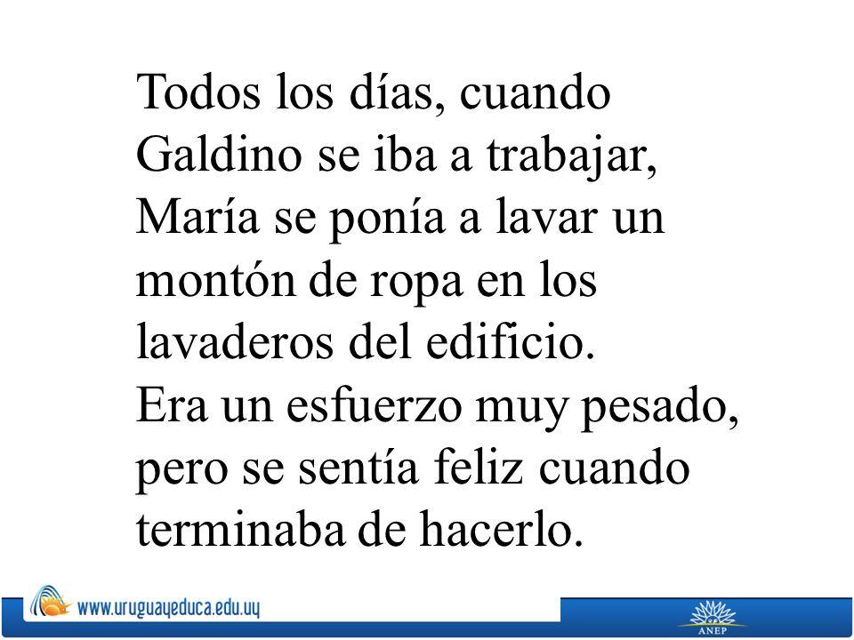 En un viejo barrio de San Luis de Potosí vivía, hace más de un siglo, una esforzada mujer, llamada María, con su esposo Galdino y sus seis hijos. Le g