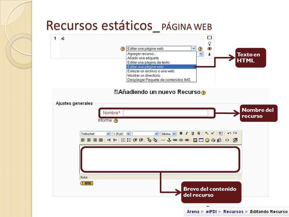 Recursos estáticos_ PÁGINA WEB Contenido HTML del recurso Ayuda con atajos del Editor