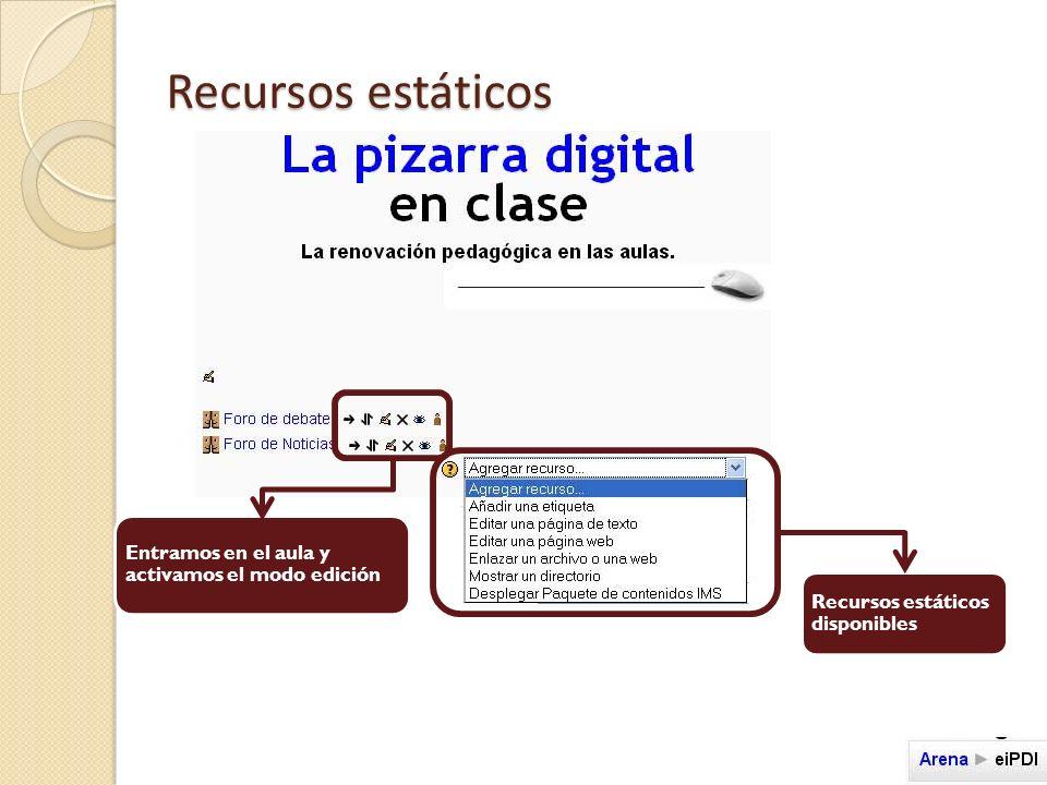 Recursos estáticos_ ETIQUETA Al admitir formato HTML, podemos forzar el uso de la etiqueta añadiendo imágenes, enlaces a páginas web, etc.