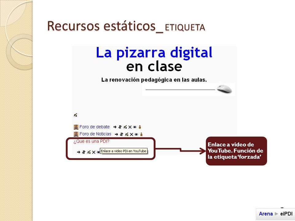 Recursos estáticos_ ETIQUETA Enlace a video de YouTube. Función de la etiqueta forzada