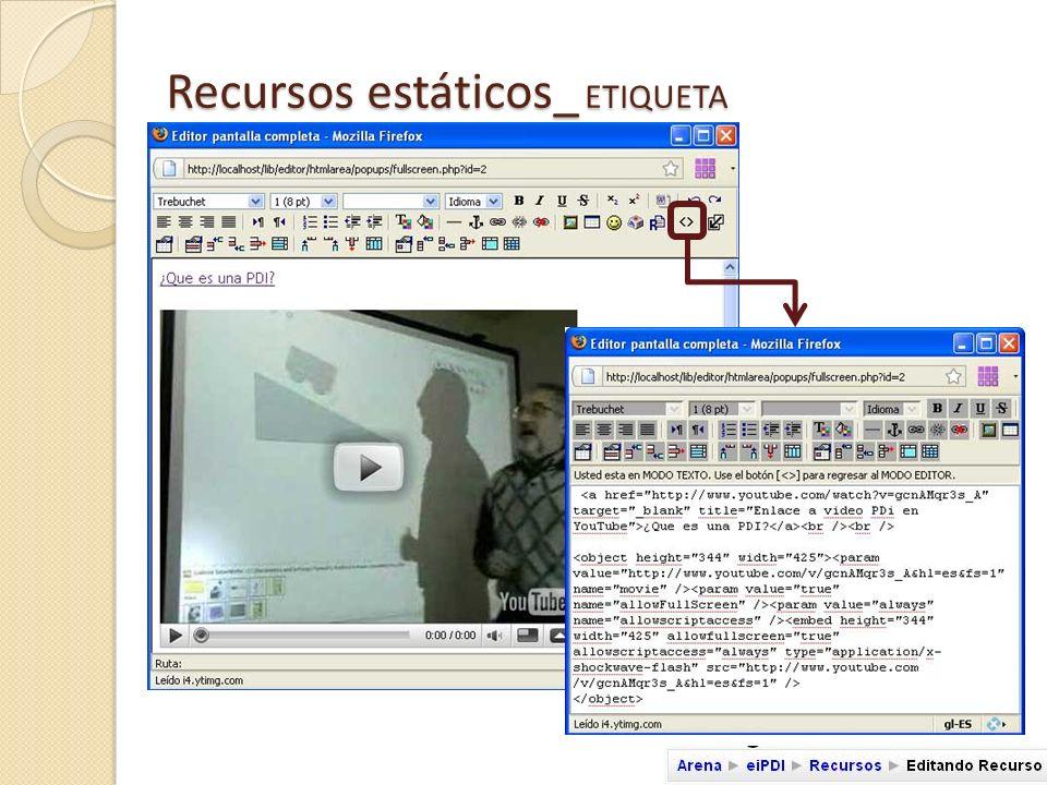 Video insertado Video enlazado Enlace a documento pdf