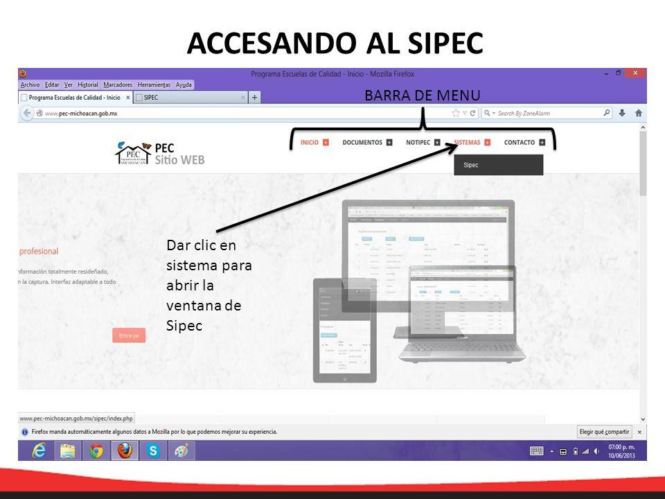 AUTOEVALUACIÓN/MATRÍCULA Clic para que se despliegue la ventana y capturar la información
