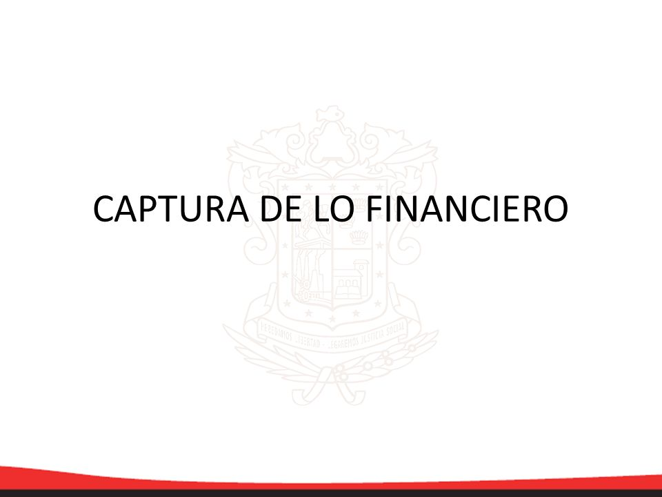 CAPTURA DE LO FINANCIERO