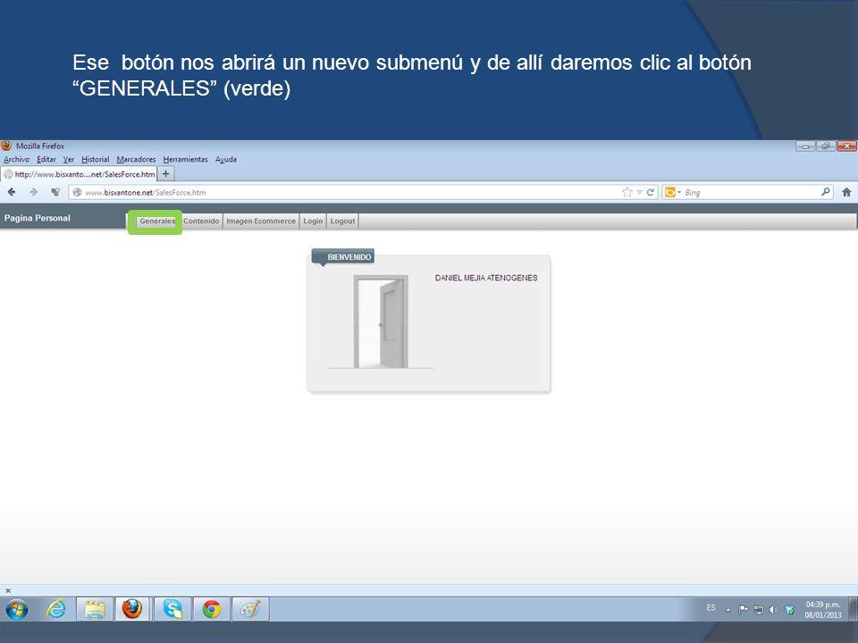 Este botón abrirá una ventana con un nuevo contenido esta ventana es de la pagina personal y daremos clic en el botón ASISTENTE(Rojo) para poder recibir soporte en línea