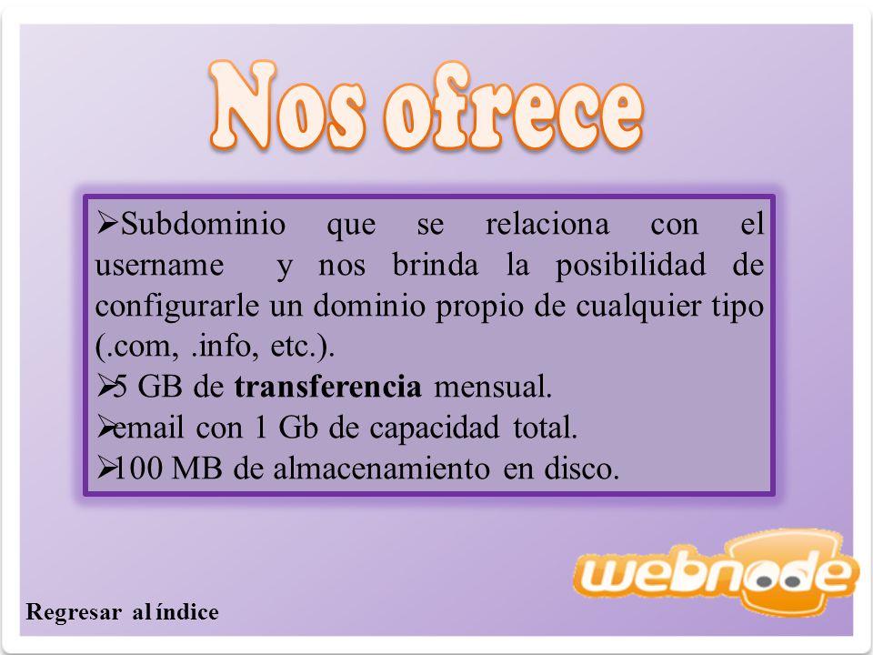 Subdominio que se relaciona con el username y nos brinda la posibilidad de configurarle un dominio propio de cualquier tipo (.com,.info, etc.).