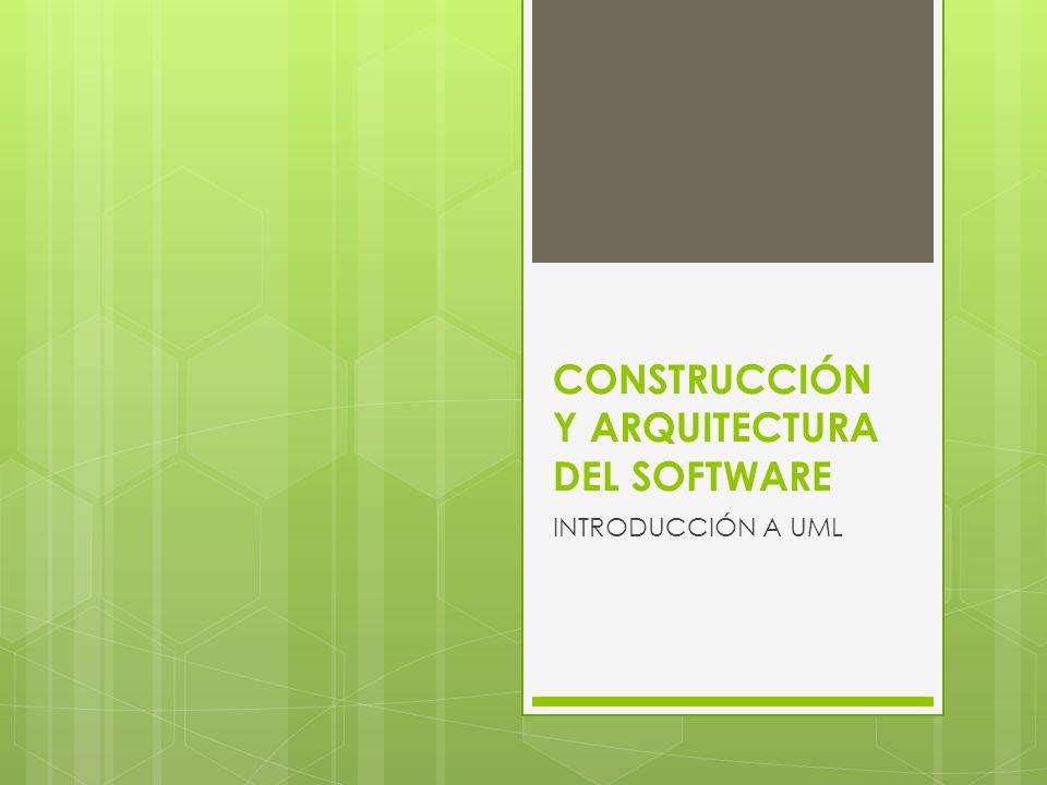 CONSTRUCCIÓN Y ARQUITECTURA DEL SOFTWARE INTRODUCCIÓN A UML