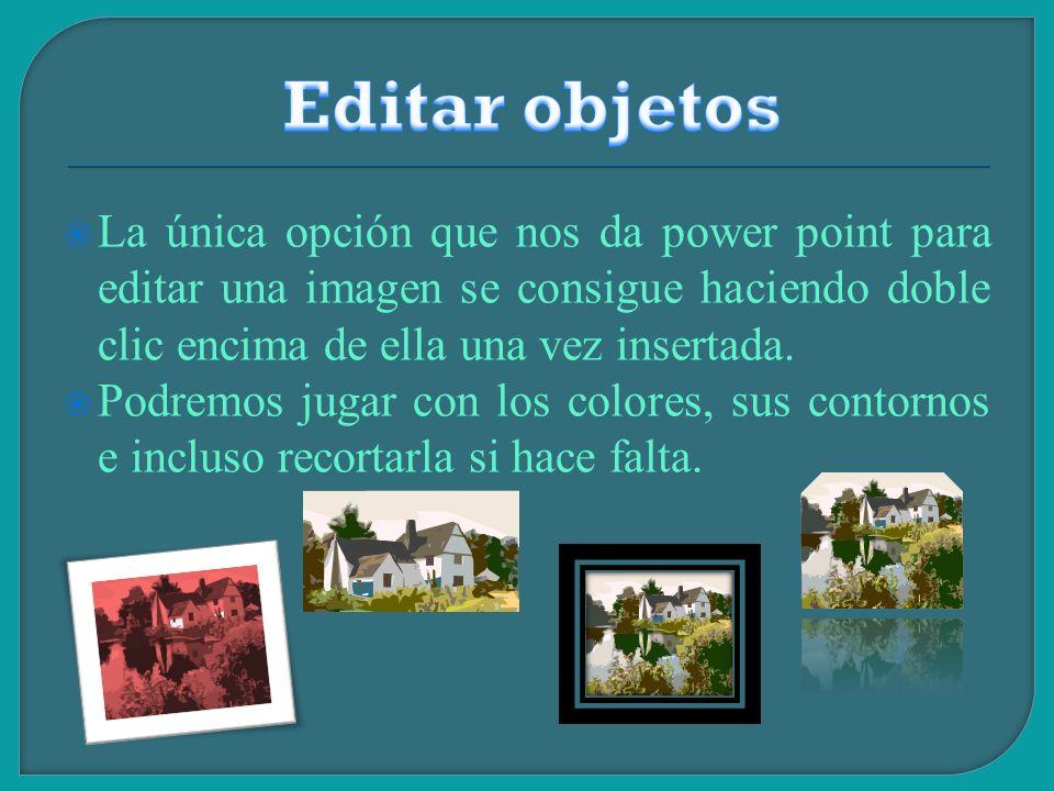 Hablamos de editar objetos a cambiar su tipo de letra, su color, su alineación, etc… Los títulos deben ir MAS GRANDES que el resto de texto y los pie de foto más pequeños y en minúscula.